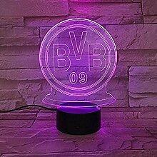 BVB Nachtlicht 3D Schlaflicht LED Licht Blitz