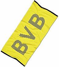 BVB Saunatuch mit Schriftzug, Baumwolle, Schwarz/Gelb, 180 x 80 x 1 cm