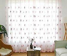 bw0057Landhaus Stil Pfirsich Blume Stickerei