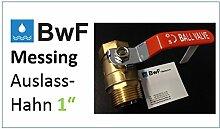 BWF Original BWF-2; 1 Zoll Innengewinde (IG) auf 1 Zoll Aussengewinde (AG) - 1 ZOLL SCHLIESSHAHN Kugelventil Kugelhahn Auslasshahn Wasserhahn Wasserfilter