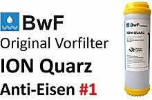 BWF Original ION-QUARZ Typ: 1 (GROB) Anti Eisen (Braunfärbung) Patrone Eisenfilter Eisen Wasserfilter Enteisenung Mangan Chlorid Sulfit Oxid