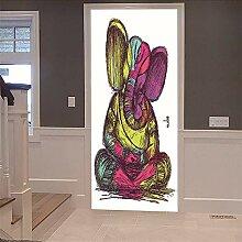 Bwhman 3D Türaufkleber Aufkleber Tür 3D Graffiti