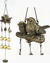 BWinka Neueste Vögel Wind Chime 6 Stücke Bronze