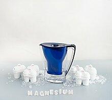 BWT - Wasserfilter 2,7 Liter Penguin Edition Dunkelblau inkl. Halbjahrespaket BWT Filterkartuschen 6 Stk.