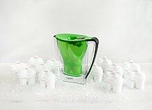 BWT - Wasserfilter 2,7 Liter Penguin Edition Grün inkl. Jahrespackung BWT Filterkartuschen 12 Stk.