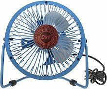 BXT® Mini-USB Ventilator Tischventilator Fan Lüfter PC-Kühlsystem Mini-Ventilator Tragbar/ Leicht/ Geräuscharm/ Schwengbar um 360 Grad, An- und Aus-Schalter Blau