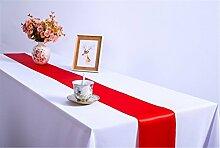 BXYR Tischläufer Packung mit 2 Satin Tischläufer