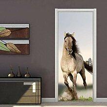 BXZGDJY 3D Tür Plakat Selbstklebend Tür Wandbild