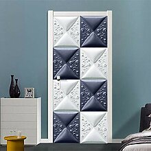 BXZGDJY 3D Tür-Wand-Aufkleber Moderne Geometrie