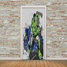 BXZGDJY 3D Tür Wandbild Selbstklebend Plakat -