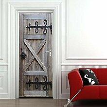 BXZGDJY 3D Ürtapete Wandbilder Selbstklebend Tür