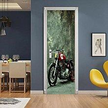 BXZGDJY Türtapete Tür Foto Tapete 3D Tür