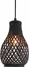 BY rydens–Lampe-Fenster Metall/Bambus schwarz