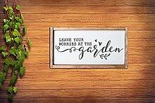 by Unbranded Gartenschild, inspirierendes Zitat,