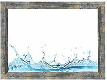 ByMoris-A+ 30x70 cm Bilderrahmen in Blau Silber