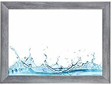 ByMoris-A+ 35x120 cm Bilderrahmen in Grau gewischt