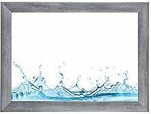 ByMoris-A+ 47x68 cm Bilderrahmen in Grau gewischt