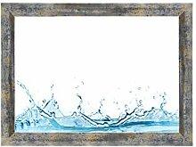 ByMoris-A+ 80x90 cm Bilderrahmen in Blau Silber
