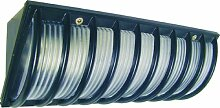 Byron Elro WL110 Außenleuchte zur Eckmontage, mit Schutzgitter, max. 40W/Energiesparlampe 13W, schwarz