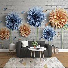 BYSQX Fototapete 3D Effekt Farbe Pflanze Blume