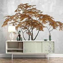 BYSQX Fototapete 3D Effekt Gelb Pflanze Großer