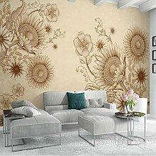 BYSQX Fototapete 3D Effekt Weinlese Pflanze Blume