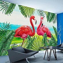 BYSQX Fototapete Tapete Wanddeko Flamingo