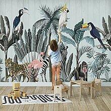 BYSQX Fototapete Tapete Wanddeko Flamingo Tropisch
