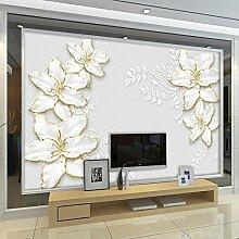 BYSQX Fototapete Tapete Wanddeko Weiß Pflanze