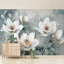 BYSQX Fototapete Tapisserie Tapete Weiß Pflanze