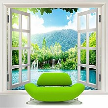 BYUVZHJ 3D Fototapete Fenster 3D Wasserfälle