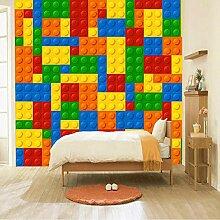 BYUVZHJ 3D wandbilder tapete für Wohnzimmer Lego