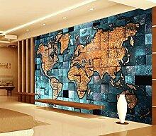 BYUVZHJ 3D Weltkarte Foto Mural tapete für