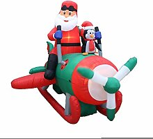 BZB Goods Aufblasbarer Weihnachtsmann mit Pinguine
