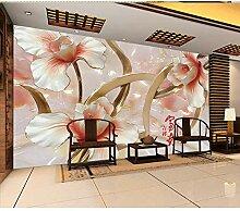 BZDHWWH 3D Blumen Wandbilder Tapete Für