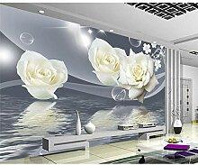 BZDHWWH 3D Elegante Frische Rosen Anpassen