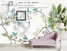 BZDHWWH Abstrakte geometrische Tapete Blumen