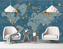 BZDHWWH Cartoon Weltkarte Fototapete Wandbilder 3D