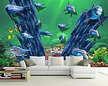 BZDHWWH Fototapete Fototapete 3D Ozean Welt Traum