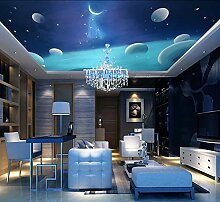 BZDHWWH Große Himmel Decke Wandbild 3D Universum