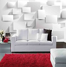 BZDHWWH Modernes Blockgitter 3D Wandbild Tapete