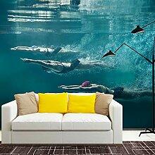 BZDHWWH Schwimmen Fototapete Wandbild Aufkleber