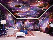 BZDHWWH Tapete 3D Wandbild für Wohnzimmer lila