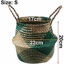 BZXYL Falten Seagrass Aufbewahrungskörbe