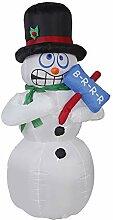 BZZBZZ Weihnachtsaufblasbare Schneemann-Stützen,