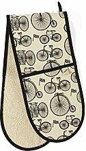 C'est Ca Le Tour Doppelter Topfhandschuh, Design Fahrräder