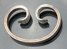 C-Bogen 105x70mm aus Flacheisen 12x6 schmiedeeisen Schnörkel Ornament NEU #954