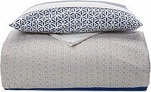 C Desing ART2471 Heimtextilien und Bettbezug 140 x 200 cm, 1 Kissenbezug, 65 x 65 cm, Blau