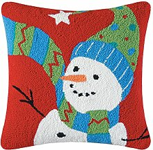 C&F Home Festive Frosty Hooked Weihnachtskissen, Ro