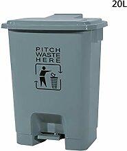 C-J-Xin Outdoor Pedal Mülleimer, hohe Kapazität